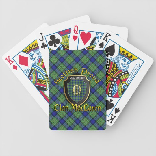 Clan MacLaren Scottish Proud Bicycle Brand Poker Deck