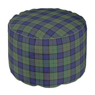 Clan MacLaren Scottish Style Green Blue Tartan Pouf