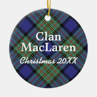 Clan MacLaren Scottish Tartan Ceramic Ornament