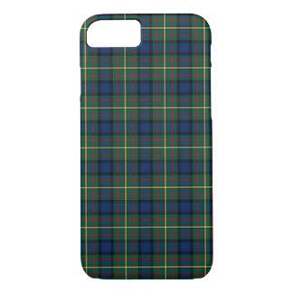 Clan MacLaren Tartan Blue and Green Scottish Plaid iPhone 8/7 Case
