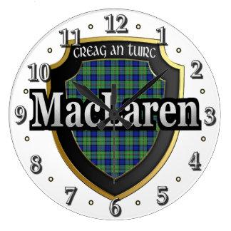 Clan MacLaren Tartan Scottish Dream Clock