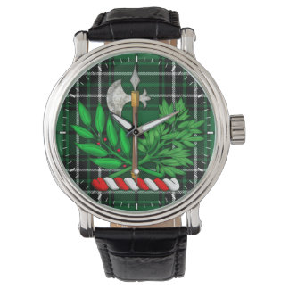 Clan MacLean Hunting Tartan And BattleAxe Crest Watch