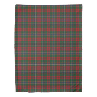 Clan MacLean Scottish Accents Red Green Tartan Duvet Cover