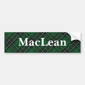 Clan MacLean Tartan Customize Your Name Bumper Sticker