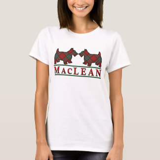Clan MacLean Tartan Scottie Dogs T-Shirt