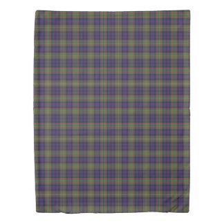 Clan MacLellan Scottish Accents Blue Green Tartan Duvet Cover