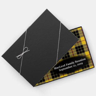 Clan MacLeod of Lewis Tartan Plaid Family Reunion Guest Book