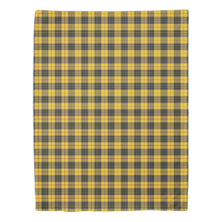 Clan MacLeod Scottish Accents Yellow Black Tartan Duvet Cover