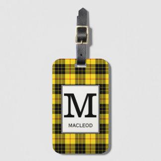 Clan MacLeod Tartan Monogrammed Luggage Tag
