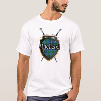 Clan MacLeod Tartan Scottish Shield & Swords T-Shirt