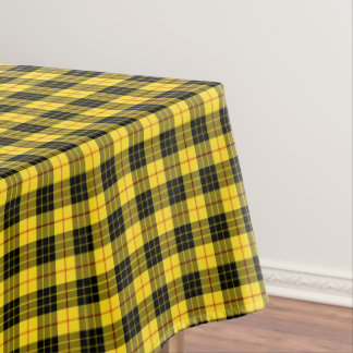 Clan MacLeod Yellow and Black Scottish Tartan Tablecloth