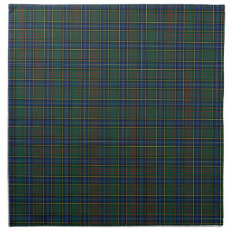 Clan MacMillan Blue and Green Scottish Tartan Napkin