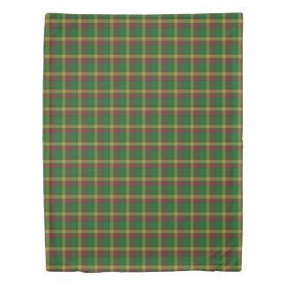 Clan MacMillan Scottish Green Red Yellow Tartan Duvet Cover