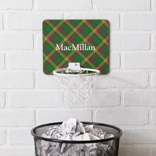 Clan MacMillan Tartan Customize Name Mini Basketball Hoop