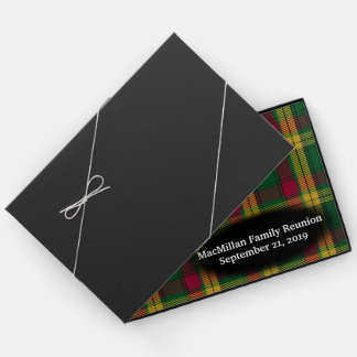 Clan MacMillan Tartan Plaid Family Reunion Guest Book