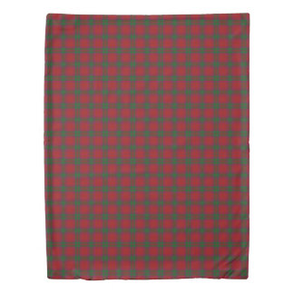 Clan MacNab Scottish Accents Red Green Tartan Duvet Cover