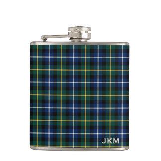 Clan MacNeil of Barra Tartan Monogram Hip Flask