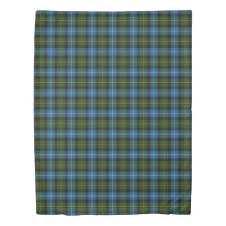 Clan MacNeil Scottish Accents Blue Green Tartan Duvet Cover