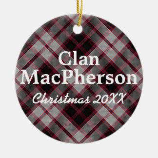 Clan MacPherson Scottish Tartan Ceramic Ornament