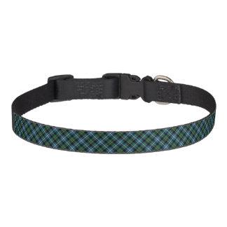 Clan MacRae Hunting Tartan Blue and Green Plaid Pet Collar
