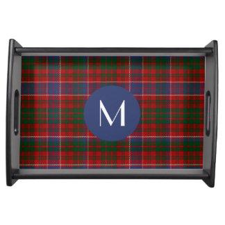 Clan MacRae Plaid Monogram Serving Tray