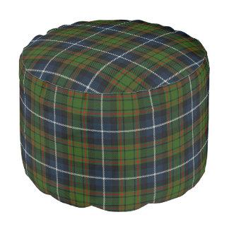 Clan MacRae Scottish Style Blue Green Tartan Pouf
