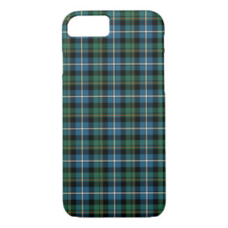 Clan MacRae Turquoise and Green Hunting Tartan iPhone 7 Case