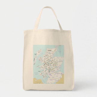 Clan Map of Scotland Grocery Tote