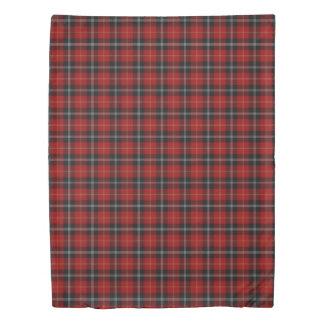 Clan Marjoribanks Scottish Red Black Tartan Duvet Cover