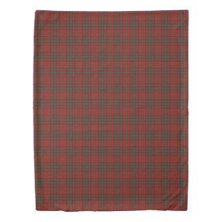 Clan Matheson Scottish Accents Red Green Tartan Duvet Cover
