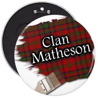 Clan Matheson Tartan Paint Brush 6 Inch Round Button