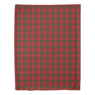Clan Maxwell Scottish Accents Red Green Tartan Duvet Cover