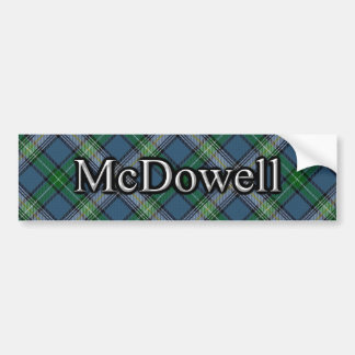 Clan McDowell Scottish Tartan Bumper Sticker