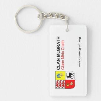Clan McGrath Double Sided Key Ring Double-Sided Rectangular Acrylic Keychain