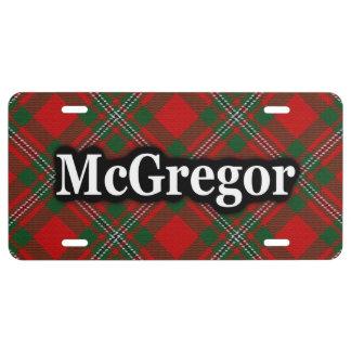 Clan McGregor MacGregor Tartan Celebration License Plate