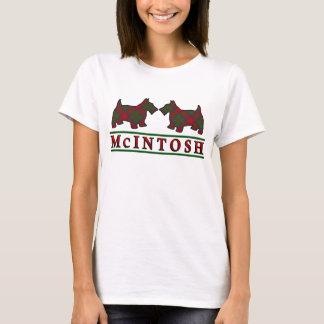 Clan McIntosh Tartan Scottie Dogs T-Shirt