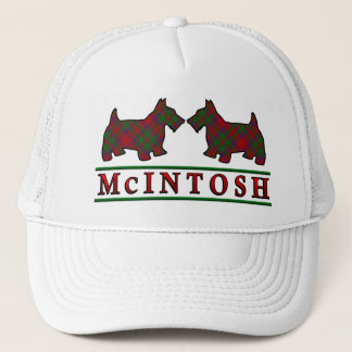 Clan McIntosh Tartan Scottie Dogs Trucker Hat