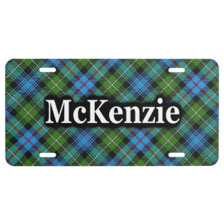 Clan McKenzie MacKenzie Tartan Celebration License Plate