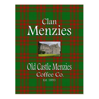 Clan Menzies Old Castle Menzies Coffee Co. Postcard