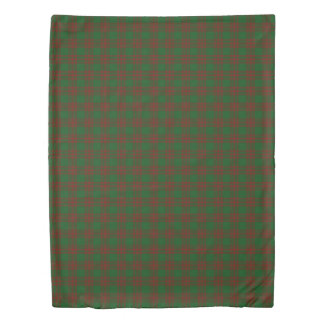 Clan Menzies Scottish Accents Green Red Tartan Duvet Cover