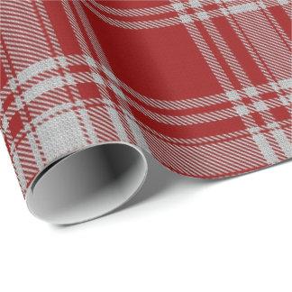 Clan Menzies Scottish Red & White Tartan Wrapping Paper