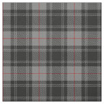Clan Moffat Grey Black Red Scottish Tartan Plaid Fabric