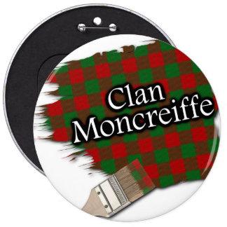 Clan Moncreiffe Tartan Paint Brush 6 Inch Round Button