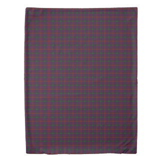 Clan Montgomery Scottish Accents Purple Tartan Duvet Cover