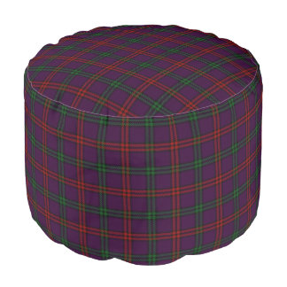 Clan Montgomery Scottish Style Purple Green Tartan Pouf