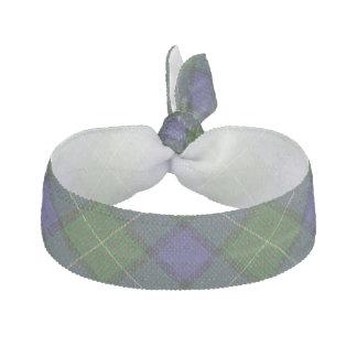 Clan Muir Scottish Accents Green Blue Tartan Hair Tie