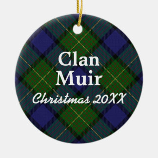 Clan Muir Scottish Tartan Ceramic Ornament