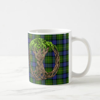 Clan Muir Tartan And Celtic Tree Of Life Coffee Mug