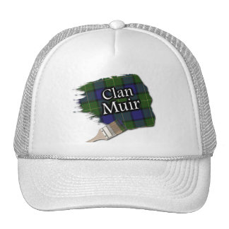 Clan Muir Tartan Paint Brush Cap Trucker Hat