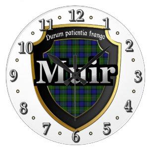 Clan Muir Tartan Scottish Dream Clock